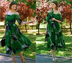 Malinina-ek - - Vipshop Dress - Green dress