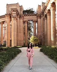 Tiffany Wang - Mango Pantsuit, Vans Sneakers - PALACE OF FINE ARTS