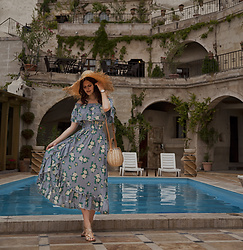 Viktoriya Sener - Shein Dress, Constante Hats Hat - POOL IN CAVES