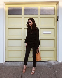 Tiffany Wang - Mango Blouse, Mango Sandals, Simon Miller Bag, Agolde Jeans - POLKA DOTS