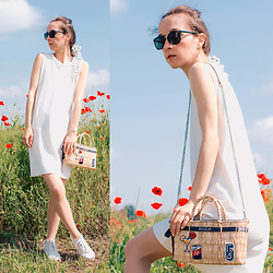 Iva K - Mango Dress, H&M Sneakers - White dress