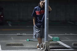 Hideki. Mn - Shoop Burning Cap, Shoop Asymmetrical Nylon Shirts, Shoop Cargo Half Pants, Pras Shellcap Color Low Gold - Japanese fashion 78
