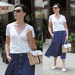 Minimalissmo .. - Zaful Polka Dot Skirt, Talbot Bag - Polka dot skirt