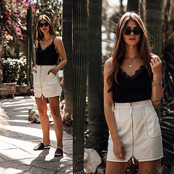 Jacky - Missguided Skirt -  Simple Summer Outfit in black and white