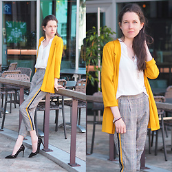 Claire H - Tally Weijl Blazer, Tally Weijl Pants, Mango Heels - Hello yellow