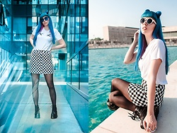 Nataša Đurović - Shein Checkered Skirt, Shein Cross Print Top - Tell me I'm your National Anthem.