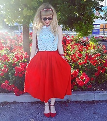 Elisa Bochicchio - Pimkie Top, Bershka Flats - Favorite skirt ever!!!