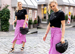 Sunnyinga - Na Kd Basic Shirt, River Island Midiskirt, Asos Shoes, Asos Bag - Midiskirt x Basic Shirt