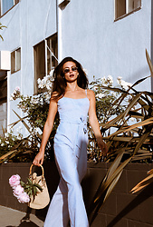 Amy Marietta - Jumpsuit - Pinstriped Jumpsuits & Peonies
