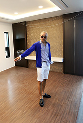 INWON LEE - Byther Vivid Cool Cardigan, Byther Navy Stripe Shirts, Byther Leather Loafer, Byther Cool Span Shorts - Summer Vibe