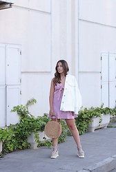Claudia Villanueva - Zara Jacket, Zaful Dress, Rosegal Bag, Un Paso Mas Sandals - A summer evening walk