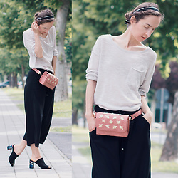 Iva K - H&M Knitted Top, H&M Culottes, Tamaris Heels - Friday