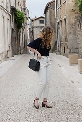 Summer R - High Waist Exposed Stitch White Jeans - Discovering White Jeans