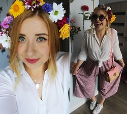 Matylda - Zara Bag, Converse Shoes - Flower-power!