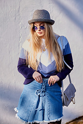 Marta Caban - Zerouv Glasses, Na Kd Sweater, Chloé Bag - BLUE
