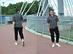 Pawel - Black Suede Trousers, Hugo Boss White Leather Sneakers, Jim Thompson Polo Shirt - The last days of June
