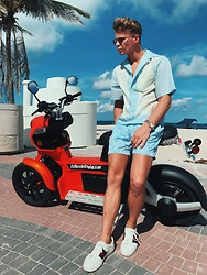 George Alvin - Prada Cotton Poplin Short, Ermenegildo Zegna Printed Slim Fit Swim Shorts, Gucci Limited Edition, Rolex Vintage, Saint Laurent Mirror Framed - Beach Cruisin'