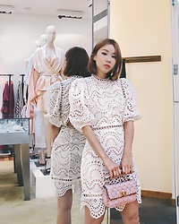 Rekay Style - Zimmermann White Lace Dress, Valentino Rockstud Bag - My Little White Dress