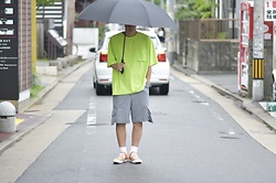 Hideki. Mn - Roundabout Nylon Pocket T Shirts, Shoop Cargo Half Pants, Pras Shellcap Color Low Gold - Japanese fashion 84