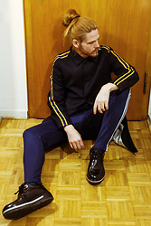 Maik - Uniforms For The Dedicated Coat, Adidas Sweatpants, Porsche Design Shoes - Berlin-Chic