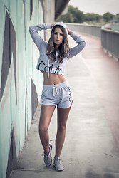 Aevoulette Benssalconia - Calvin Klein Top, Calvin Klein Shorts, Nike Sneakers - Cross the Limit