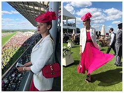Anastasiia Masiutkina - Philosophy Di Lorenzo Serafini Dress - Royal color! Ascot time!