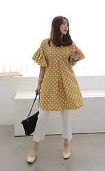 Miamiyu K - Miamasvin Polka Dot Shift Dress - Running in Circles