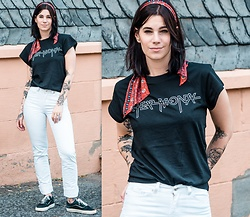 Nina Wirths - Asos Hair Accessoire, Cheap Monday T Shirt, Vero Moda Jeans, Vans Shoes - Cheap monday