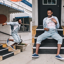 Bray J - Converse Sneakers, Bdg Overalls, Nixon Watch - Keep it Fresh