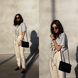 CLAUDIA Holynights - Chic Wish Top, Sienna Jones Bag - Polka dots and linen