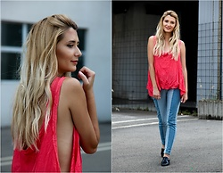 Sofija Surdilovic - Rosegal Mango Color Top, Rosegal Light Dark Jeans - Strawberries, cherries..