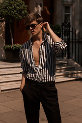 Georg Mallner - Mango Shirt, H&M Pants, Ray Ban Sunglasses - June 29, 2018