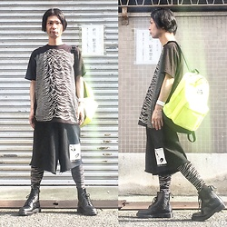 @KiD - Joy Division Unknown Pleasure, Obey Neon Bag, Komakino Shorts, Sons Of Heroes Unknown Pleasures Toghts, Dr. Martens Unknown Pleasure - JapaneseTrash417