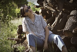 Ewa Macherowska - Only Jeans, Vintage Blouse, Born 86' Sunglasses, Zaful Earrings - Vintage Summer