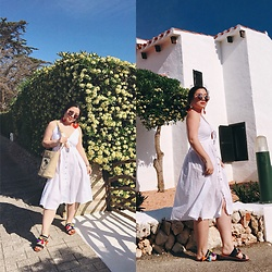 Joyce Wang - Amazon White Sundress - Spanish Weekend