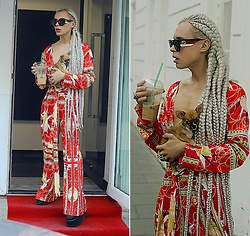 Milex X - Gucci Sunglasses, Girlmerry Jumpsuit - CHIHUAHUA LOVE