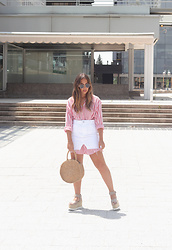 Claudia Villanueva - Zara Shirt, Mango Skirt, Rosegal Bag, Un Paso Mas Sandals - Skirt over Shirt