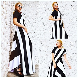 Lara Popa - Teyxo Striped Maxi Dress - Stripes for Monday