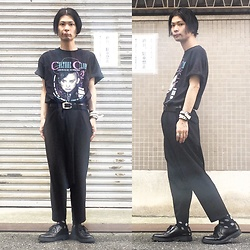 @KiD - Culture Club Boy George Tee, Nonsensical Bracelet, Comme Des Garçons Penguin Pants, Dr. Martens 3 Hole - JapaneseTrash418