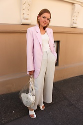 Anna Borisovna - H&M Blazer, Mango Shirt, Zara Pants, Mango Bag, Céline Shoes, H&M Sunglasses - The Rose Blazer