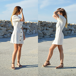 Tamara Bellis - Zara Dress, Migato Sandals - The Most Adorable With Adore