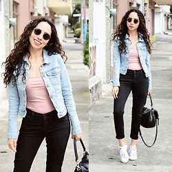 Attalia DASBEL - Pull & Bear Denim Jacket, Levi's® Jeans - HI!