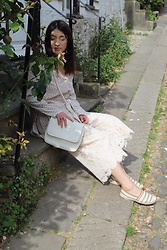 Weronika Bukowczan - Warehouse Lace Culottes, Dune Striped Espadrilles - Welcome to vintage town