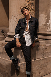 Georg Mallner - Levi's® Denim Jacket, H&M Shirt, Lee Pants - July 05, 2018