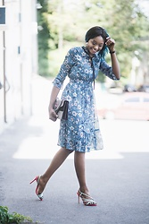 Melody Jacob -  - What to wear to a wedding ? Floral chiffon dress