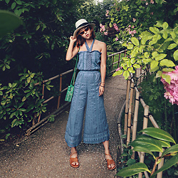 Rekay Style - Tularosa Jumpsuit, Zara Cat Eye Sunglass, Cueren Crossover Sandals - Summer Jumpsuit