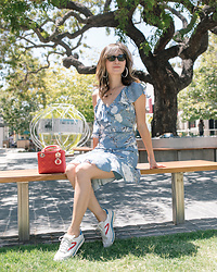Elizabeth Lee (Stylewich) - Dior Mini Lady Bag, Tretorn Rawlins Sneakers, Lucy Paris Emely Floral Dress - City Florals