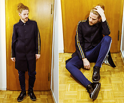 Maik - Uniforms For The Dedicated Coat, Adidas Trackpants, Porsche Design Shoes - Berlin-Chic