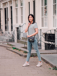 Vivian Tse - & Other Stories Tee, Zara Distressed Jeans, Céline Bag, Nike Trainers, Cinco Necklace - Timeless