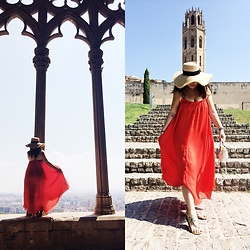 Joyce Wang - Mango Red Maxi Dress - Lleida